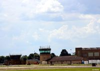 RAF Waddington - The old and the new towers at RAF Waddington - by Clive Pattle
