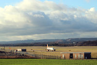 Edinburgh Airport, Edinburgh, Scotland United Kingdom (EGPH) - View from the Railway Bridge viewing area, on the north side of the airport. - by Clive Pattle