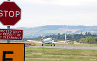 Dundee Airport, Dundee, Scotland United Kingdom (EGPN) - Viewed from the east looking west - Dundee Riverside EGPN - by Clive Pattle