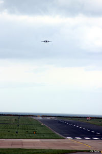 RAF Leuchars Airport, Leuchars, Scotland United Kingdom (EGQL) - Another shot of Runway 09 at RAF Leuchars taken from the hump looking eastwards towards the North Sea in the distance. - by Clive Pattle