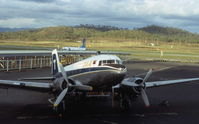 Port Moresby/Jackson International Airport - TAA Airlines of New Guinea Douglas DC-3 at Port Moresby Airport in December 1974. - by Peter Lea