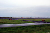 Dundee Airport, Dundee, Scotland United Kingdom (EGPN) - Threshold of taxiway and runway 09-27 at Dundee - by Clive Pattle