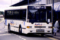 Birmingham International Airport - Scanned from original slide taken in 1996.   Shuttle bus was operating as the 'MagLev' transit to the Birmingham International Rail Station was under repair - by Neil Henry