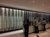 Los Angeles International Airport (LAX) - Wine-rack (or better: -wall) at the new Star Alliance lounge at TBIT - by Micha Lueck