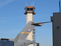 Long Beach /daugherty Field/ Airport (LGB) - The tower and a C-17 that need some help... - by olivier Cortot