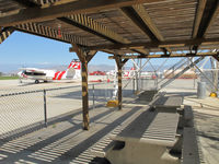 Hemet-ryan Airport (HMT) - You can stop and use the nice picnic area near the fire dept. - by olivier Cortot