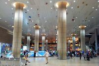 Ben Gurion International Airport - Arrival hall, gate to Israel. A cell-phone picture. - by ikeharel