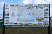 Blackbushe Airport - Interesting sign unveiled at Blackbushe in 2013 by Harold Bamberg, boss of the unfortunately now defunct British Eagle.   - by moxy