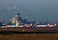 Tegel International Airport (closing in 2011), Berlin Germany (EDDT) - A frenzy in red and white - what a wonderful days for a plane spotter.... - by Holger Zengler