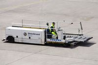 Tegel International Airport (closing in 2011), Berlin Germany (EDDT) - Man at work 2.... - by Holger Zengler