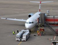 Tegel International Airport (closing in 2011), Berlin Germany (EDDT) - Pusher crew seems to have some obstacles .... - by Holger Zengler