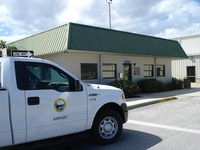 New Smyrna Beach Municipal Airport (EVB) - Airport office of New Smyrna Beach Muni airport - by Jack Poelstra