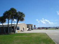 New Smyrna Beach Municipal Airport (EVB) - Ramp and hangars - by Jack Poelstra
