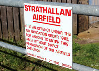XSTR Airport - Airfield sign (modified for privacy reasons) at Strathallan Airfield, XSTR, near Auchterarder, Perthshire, Scotland - the home of Skydive Scotland - by Clive Pattle