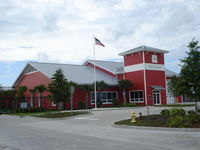 Space Coast Regional Airport (TIX) - Airport Fire station at Space coast airport, Titusville  Fla. - by Jack Poelstra