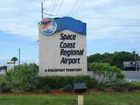 Space Coast Regional Airport (TIX) - Entrance of Space Coast  Rgnl airport - by Jack Poelstra