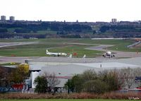 Aberdeen Airport, Aberdeen, Scotland United Kingdom (EGPD) - Looking South-Southeast across the airport at Aberdeen EGPD with a BA A320 taxying to the gate past a parked BAe ATP of West Atlantic Cargo. - by Clive Pattle