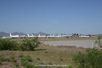 Pinal Airpark Airport (MZJ) - view of 747s - by J.G. Handelman