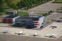 Lelystad Airport - Lelystad airport building with tower. - by Van Propeller