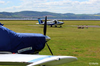 Dundee Airport, Dundee, Scotland United Kingdom (EGPN) - A peaceful scene with Tayside Aviation at Dundee Riverside airport EGPN - by Clive Pattle