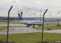 Edinburgh Airport, Edinburgh, Scotland United Kingdom (EGPH) - The cargo north side area viewed through the fence at Edinburgh EGPH - by Clive Pattle