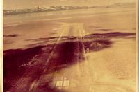 Amedee Aaf Airport (AHC) - Amedee AAF near Herlong,Ca with Honey Lake seen in the distance which is often a dry lake.Strip was built in 1942 and is still an active in 2015.Picture is from around 1965. - by S B J