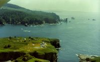 NONE Airport - Helicopter pad  on Tatoosh Island for the lighthouse near Cape Flattery,Wash.It is on The Strait Of Juan De Fuca.It is the most NW point of the US. View is to the south. - by S B J