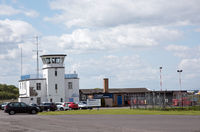 Carlisle Airport - Former RAF Crosby-on-Eden, now Carlisle Lake District Airport. The Stobart Cafe is a regular meeting-place for local aviation enthusiasts.  - by Jonathan Allen