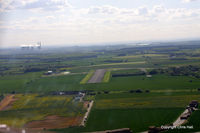 Sturgate Airfield - on finals to RW27, 820 mtrs long - by Chris Hall