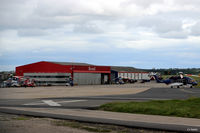 Aberdeen Airport, Aberdeen, Scotland United Kingdom (EGPD) - Part of the Bond Helicopter site at Aberdeen, Scotland EGPD - by Clive Pattle