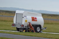 Caernarfon Airport - JET A-1 2000 Litres Fuel Tank/Trailer - by David Burrell