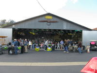 Santa Paula Airport (SZP) - Pat Quinn Bucker Museum Hangar guests arriving for occasion of his receiving the FAA Master Pilot Award for 50 years accident free-no violations flying. Great luncheon & party! Thank you Pat and Arlys for all you do! - by Doug Robertson