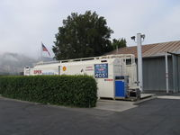 Santa Paula Airport (SZP) - Santa Paula Self-Serve SHELL 100LL Fuel Dock, note changed price/gallon - by Doug Robertson