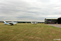 Peterborough/Sibson Airport - A view across the airfield at Sibson EGSP - by Clive Pattle