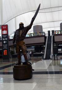 Denver International Airport (DEN) - Statue of Elrey B. Jeppesen Denver  - by Ronald Barker