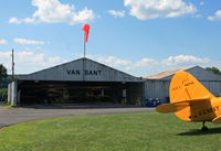Vansant Airport (9N1) - This is the main hangar at Van Sant, one of three.  This little airport is home to many vintage and classic airplanes. - by Daniel L. Berek