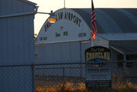 Enumclaw Airport (WA77) - Sunset over the Enumclaw airport - by Eric Olsen