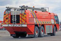 Cardiff International Airport - Fire 3 at EGFF. - by Derek Flewin