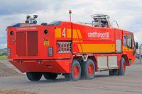 Cardiff International Airport - Fire 4 at EGFF. - by Derek Flewin