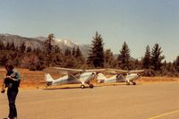 Alpine County Airport (M45) - Picture time after a successful crossing of the Sierra Nevada Mountains.This was a beautiful day but a little breezy which you seem to notice in planes like Aeroncas. - by S B J