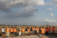 Malta International Airport (Luqa Airport) - Volunteers for the Malta International Airshow 2011 are treated to a day at the approach of the active runway to shoot the participants upon landing - by Roberto Cassar