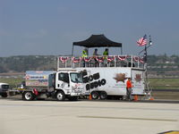 Camarillo Airport (CMA) - AIRSHOW CENTRAL-Announcers and Public Address System for Wings Over Camarillo 2015 Airshow, (SunAir Jets Fuel Truck does NOT directly power the booth!), lol - by Doug Robertson