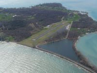 Middle Bass Island Airport (3T7) - Looking SW at 2000 ft - by Bob Simmermon