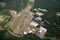 Turners Falls Airport (0B5) - Skydivers over Turners Falls, MA. - by Dave G