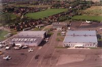 Coventry Airport - Taken from an air atlantique DC6. No doubt that CVT was a bit of a dump and probably still is, but always an interesting place to work. Early 90s - by EF0048