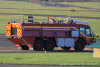 Gloucestershire Airport, Staverton, England United Kingdom (EGBJ) - Staverton fire truck - by Chris Hall