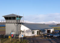 Oban Airport - Oban Airport - control tower and terminal building. - by Jonathan Allen