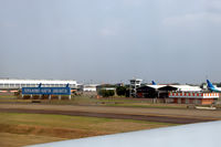Soekarno-Hatta International Airport - The big blue sign leaves no doubt about which airport this is. - by Van Propeller