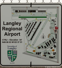 Langley Regional Airport - You are here. Map of Langley Regional Airport - by James Abbott