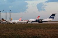 Leipzig/Halle Airport - Still of the evening on apron 1 west.... - by Holger Zengler
